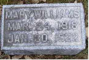 WILLIAMS, MARY - Adams County, Ohio | MARY WILLIAMS - Ohio Gravestone Photos