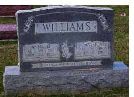 WILLIAMS, R. ANTHONY - Adams County, Ohio | R. ANTHONY WILLIAMS - Ohio Gravestone Photos