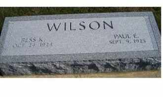 WILSON, PAUL E. - Adams County, Ohio | PAUL E. WILSON - Ohio Gravestone Photos