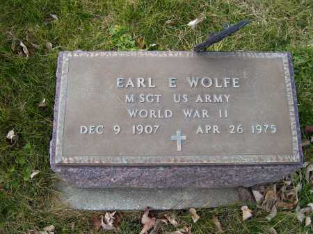 WOLFE, EARL E. - Adams County, Ohio | EARL E. WOLFE - Ohio Gravestone Photos