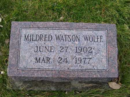 WATSON WOLFE, MILDRED - Adams County, Ohio | MILDRED WATSON WOLFE - Ohio Gravestone Photos