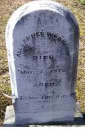 WOODROW, ALEXANDER - Adams County, Ohio | ALEXANDER WOODROW - Ohio Gravestone Photos