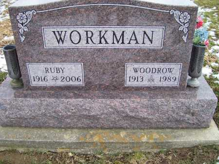 WORKMAN, RUBY - Adams County, Ohio | RUBY WORKMAN - Ohio Gravestone Photos