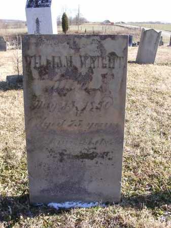 WRIGHT, WILLIAM - Adams County, Ohio   WILLIAM WRIGHT - Ohio Gravestone Photos