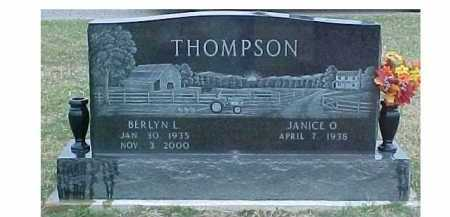 THOMPSON, JANICE O. - Adams County, Ohio | JANICE O. THOMPSON - Ohio Gravestone Photos