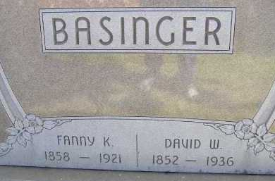 BASINGER, DAVID W. - Allen County, Ohio | DAVID W. BASINGER - Ohio Gravestone Photos