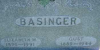 BASINGER, GUST - Allen County, Ohio | GUST BASINGER - Ohio Gravestone Photos
