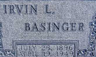 BASINGER, IRVIN L. - Allen County, Ohio | IRVIN L. BASINGER - Ohio Gravestone Photos