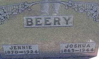 BEERY, JENNIE - Allen County, Ohio | JENNIE BEERY - Ohio Gravestone Photos
