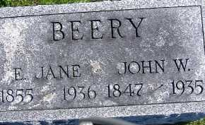 BEERY, E. JANE - Allen County, Ohio | E. JANE BEERY - Ohio Gravestone Photos