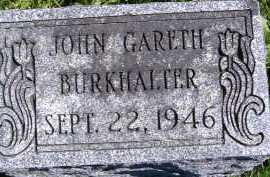 BURKHALTER, JOHN GARETH - Allen County, Ohio   JOHN GARETH BURKHALTER - Ohio Gravestone Photos