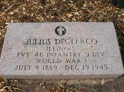 DECLERCO, JULIUS - Allen County, Ohio | JULIUS DECLERCO - Ohio Gravestone Photos
