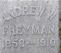 FREYMAN, ANDREW W - Allen County, Ohio | ANDREW W FREYMAN - Ohio Gravestone Photos