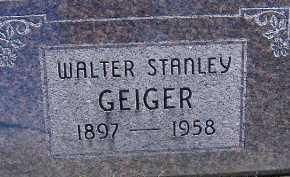 GEIGER, WALTER STANLEY - Allen County, Ohio | WALTER STANLEY GEIGER - Ohio Gravestone Photos