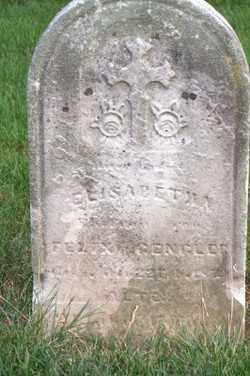 RAHRIG GENGLER, ELIZABETH KATHERINE - Allen County, Ohio | ELIZABETH KATHERINE RAHRIG GENGLER - Ohio Gravestone Photos