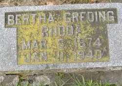 GREDING, BERTHA - Allen County, Ohio | BERTHA GREDING - Ohio Gravestone Photos