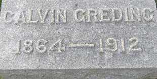 GREDING, CALVIN - Allen County, Ohio | CALVIN GREDING - Ohio Gravestone Photos