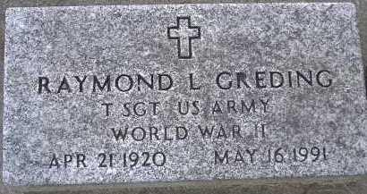 GREDING, RAYMOND L. - Allen County, Ohio | RAYMOND L. GREDING - Ohio Gravestone Photos
