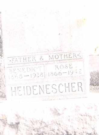 HEIDENESCHER, BENEDICT - Allen County, Ohio | BENEDICT HEIDENESCHER - Ohio Gravestone Photos