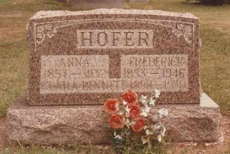 HOFER, ANNA - Allen County, Ohio | ANNA HOFER - Ohio Gravestone Photos