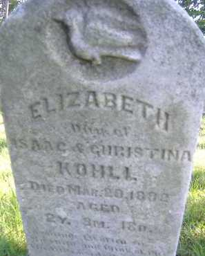 KOHLI, ELIZABETH - Allen County, Ohio | ELIZABETH KOHLI - Ohio Gravestone Photos