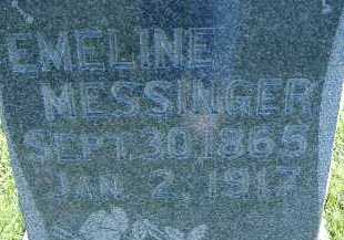 MESSINGER, EMELINE - Allen County, Ohio | EMELINE MESSINGER - Ohio Gravestone Photos