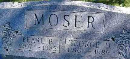 MOSER, GEORGE D. - Allen County, Ohio | GEORGE D. MOSER - Ohio Gravestone Photos