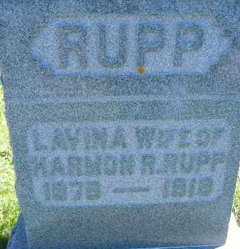 RUPP, LAVINA - Allen County, Ohio | LAVINA RUPP - Ohio Gravestone Photos