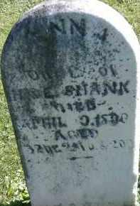 SHANK, ANNA - Allen County, Ohio | ANNA SHANK - Ohio Gravestone Photos