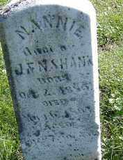 SHANK, NANNIE - Allen County, Ohio | NANNIE SHANK - Ohio Gravestone Photos