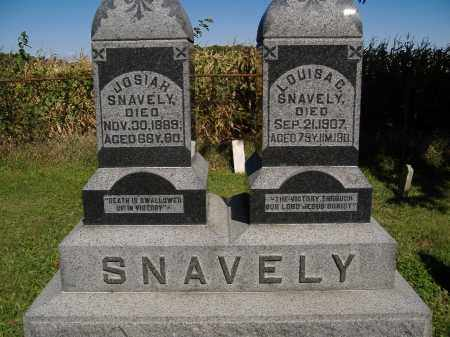 SNAVELY, JOSIAH - Allen County, Ohio | JOSIAH SNAVELY - Ohio Gravestone Photos