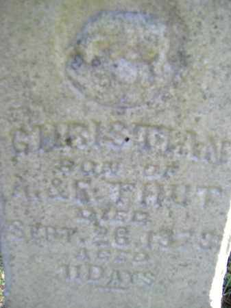 THUT, CHRISTIAN - Allen County, Ohio | CHRISTIAN THUT - Ohio Gravestone Photos