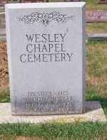 WESLEY CHAPEL CEMETERY, SIGN - Allen County, Ohio | SIGN WESLEY CHAPEL CEMETERY - Ohio Gravestone Photos