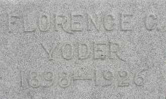 YODER, FLORENCE C. - Allen County, Ohio | FLORENCE C. YODER - Ohio Gravestone Photos