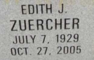 ZUERCHER, EDITH J. - Allen County, Ohio | EDITH J. ZUERCHER - Ohio Gravestone Photos