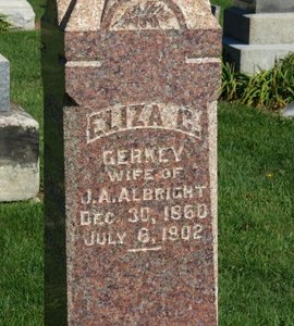 ALBRIGHT, ELIZA C. - Ashland County, Ohio | ELIZA C. ALBRIGHT - Ohio Gravestone Photos