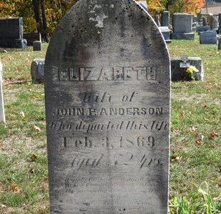 ANDERSON, ELIZABRTH - Ashland County, Ohio | ELIZABRTH ANDERSON - Ohio Gravestone Photos