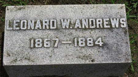 ANDREWS, LEONARD W. - Ashland County, Ohio | LEONARD W. ANDREWS - Ohio Gravestone Photos
