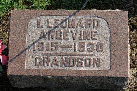 ANGEVINE, I. LEONARD - Ashland County, Ohio | I. LEONARD ANGEVINE - Ohio Gravestone Photos