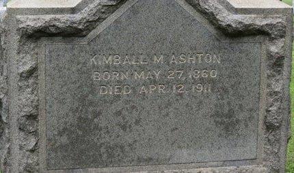 ASHTON, KIMBALL M. - Ashland County, Ohio | KIMBALL M. ASHTON - Ohio Gravestone Photos