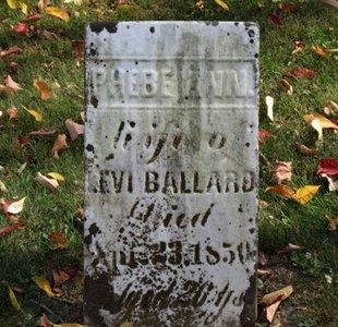 BALLARD, PHEBE ANN - Ashland County, Ohio | PHEBE ANN BALLARD - Ohio Gravestone Photos
