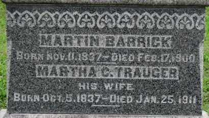 TRAUGER BARRICK, MARTHA C. - Ashland County, Ohio | MARTHA C. TRAUGER BARRICK - Ohio Gravestone Photos