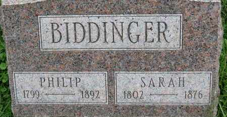 BIDDINGER, SARAH - Ashland County, Ohio | SARAH BIDDINGER - Ohio Gravestone Photos