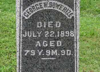 BOWERIZE, GEORGE W. - Ashland County, Ohio | GEORGE W. BOWERIZE - Ohio Gravestone Photos