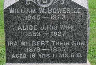 BOWERIZE, WILLIAM W. - Ashland County, Ohio | WILLIAM W. BOWERIZE - Ohio Gravestone Photos
