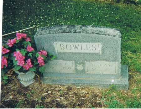 "BOWLES, JOHN ERIE ""JACK"" - Ashland County, Ohio 