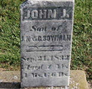 BOWMAN, JOHN J. - Ashland County, Ohio | JOHN J. BOWMAN - Ohio Gravestone Photos