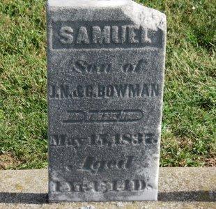 BOWMAN, SAMUEL - Ashland County, Ohio | SAMUEL BOWMAN - Ohio Gravestone Photos