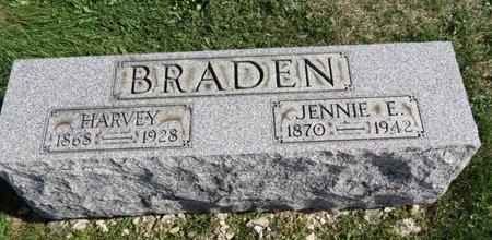 BRADEN, JENNIE E. - Ashland County, Ohio | JENNIE E. BRADEN - Ohio Gravestone Photos