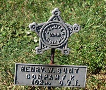 BUNT, HENRY W. - Ashland County, Ohio   HENRY W. BUNT - Ohio Gravestone Photos